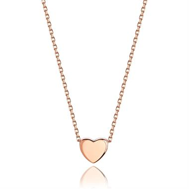Unico 18ct Rose Gold Heart Necklace thumbnail