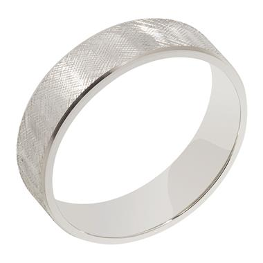 Palladium Criss-Cross Pattern Wedding Ring thumbnail