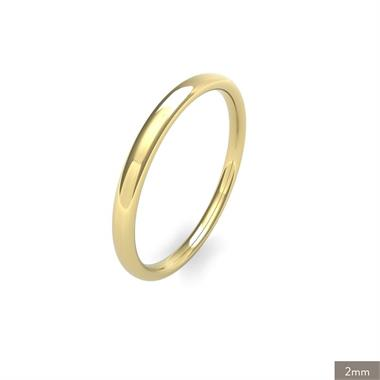 18ct Yellow Gold Intermediate Gauge Slight Court Wedding Ring thumbnail