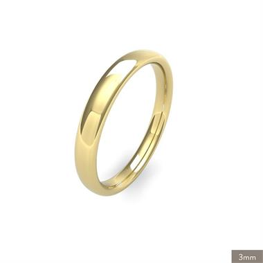 18ct Yellow Gold Medium Gauge Slight Court Wedding Ring thumbnail