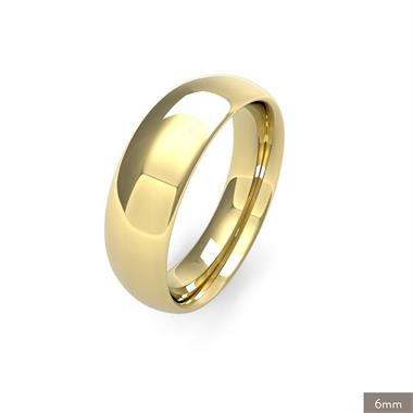 18ct Yellow Gold Heavy Gauge Traditional Court Wedding Ring thumbnail