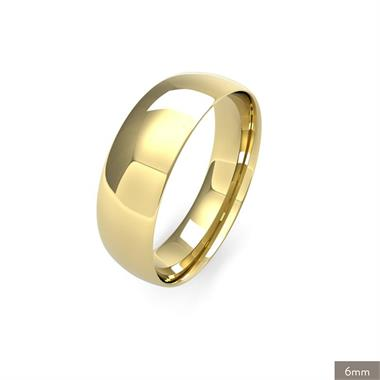 18ct Yellow Gold Light Gauge Traditional Court Wedding Ring thumbnail