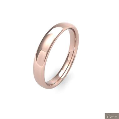 18ct Rose Gold Medium Gauge Slight Court Wedding Ring thumbnail