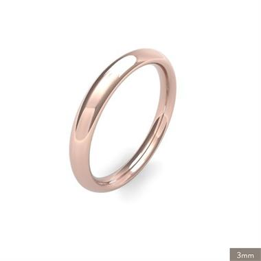 18ct Rose Gold Heavy Gauge Traditional Court Wedding Ring thumbnail
