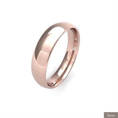 18ct Rose Gold Medium Gauge Traditional Court Wedding Ring thumbnail