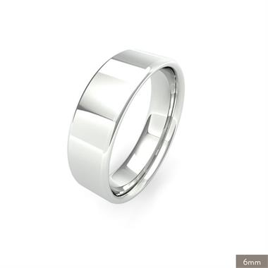 Platinum Intermediate Gauge Flat Court Wedding Ring thumbnail