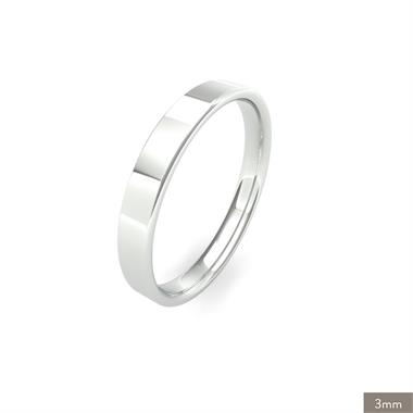 Platinum Light Gauge Flat Court Wedding Ring thumbnail