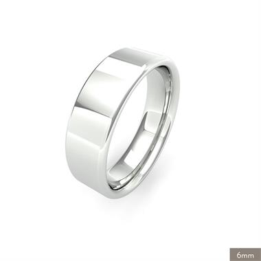 Platinum Medium Gauge Flat Court Wedding Ring thumbnail