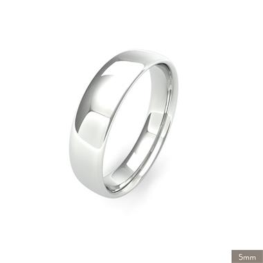 Platinum Intermediate Gauge Slight Court Wedding Ring thumbnail