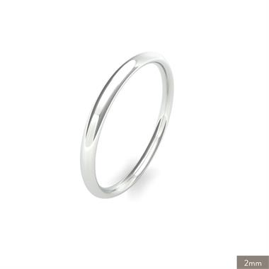 Platinum Intermediate Gauge Traditional Court Wedding Ring thumbnail