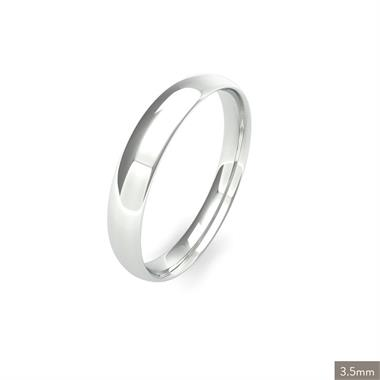 Platinum Light Gauge Traditional Court Wedding Ring thumbnail