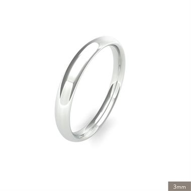 Platinum Medium Gauge Traditional Court Wedding Ring thumbnail