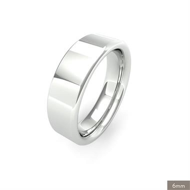 Palladium Heavy Gauge Flat Court Wedding Ring thumbnail