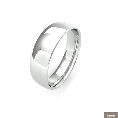 Palladium Intermediate Gauge Slight Court Wedding Ring thumbnail