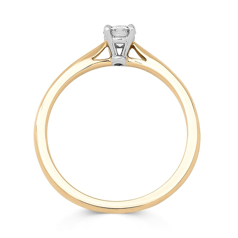 18ct Yellow Gold Diamond Solitaire Engagement Ring 0.33ct Thumbnail Image 1