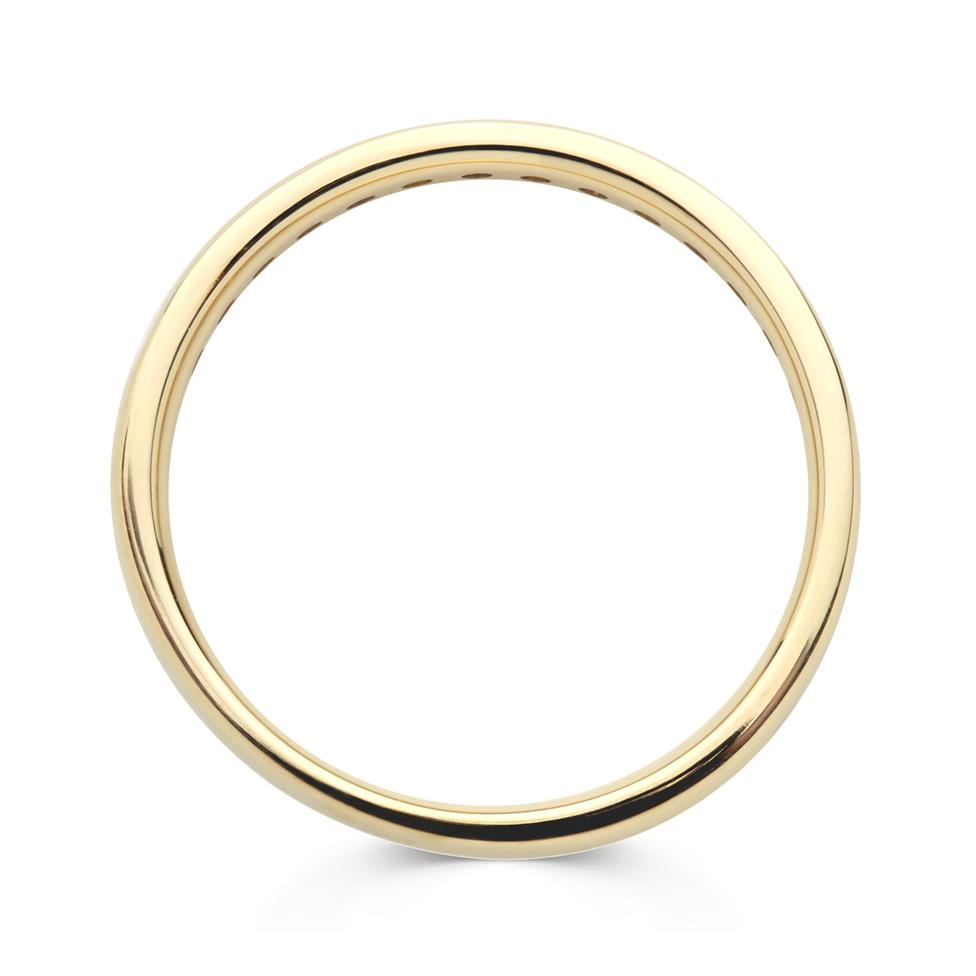 18ct Yellow Gold Sapphire and Diamond Half Eternity Ring Thumbnail Image 1