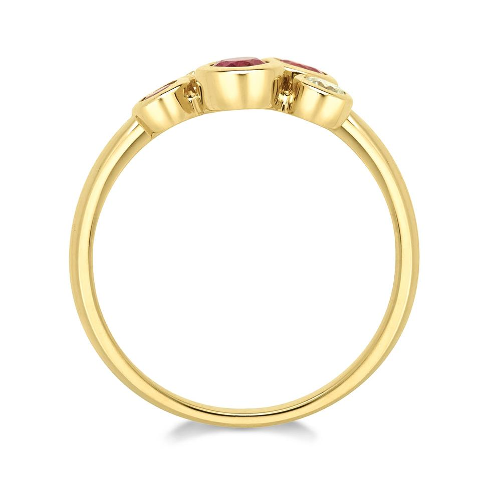 Alchemy 18ct Yellow Gold Ruby and 0.21ct Diamond Ring Thumbnail Image 1