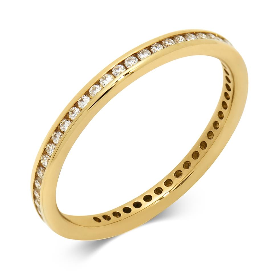 18ct Yellow Gold Diamond Full Eternity Ring 0.25ct Thumbnail Image 0