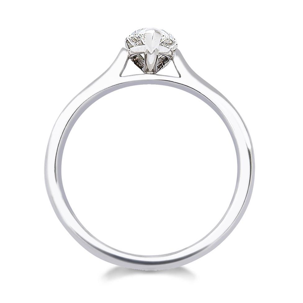 Platinum Diamond Pear Shape Solitaire Ring 0.70ct Thumbnail Image 2