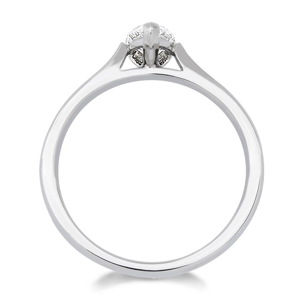 Platinum Diamond Pear Shape Solitaire Ring 0.50ct Thumbnail Image 1