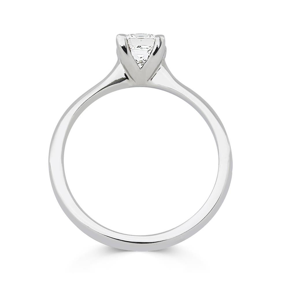 Platinum Princess Cut Diamond Solitaire Engagement Ring 0.70ct Thumbnail Image 1