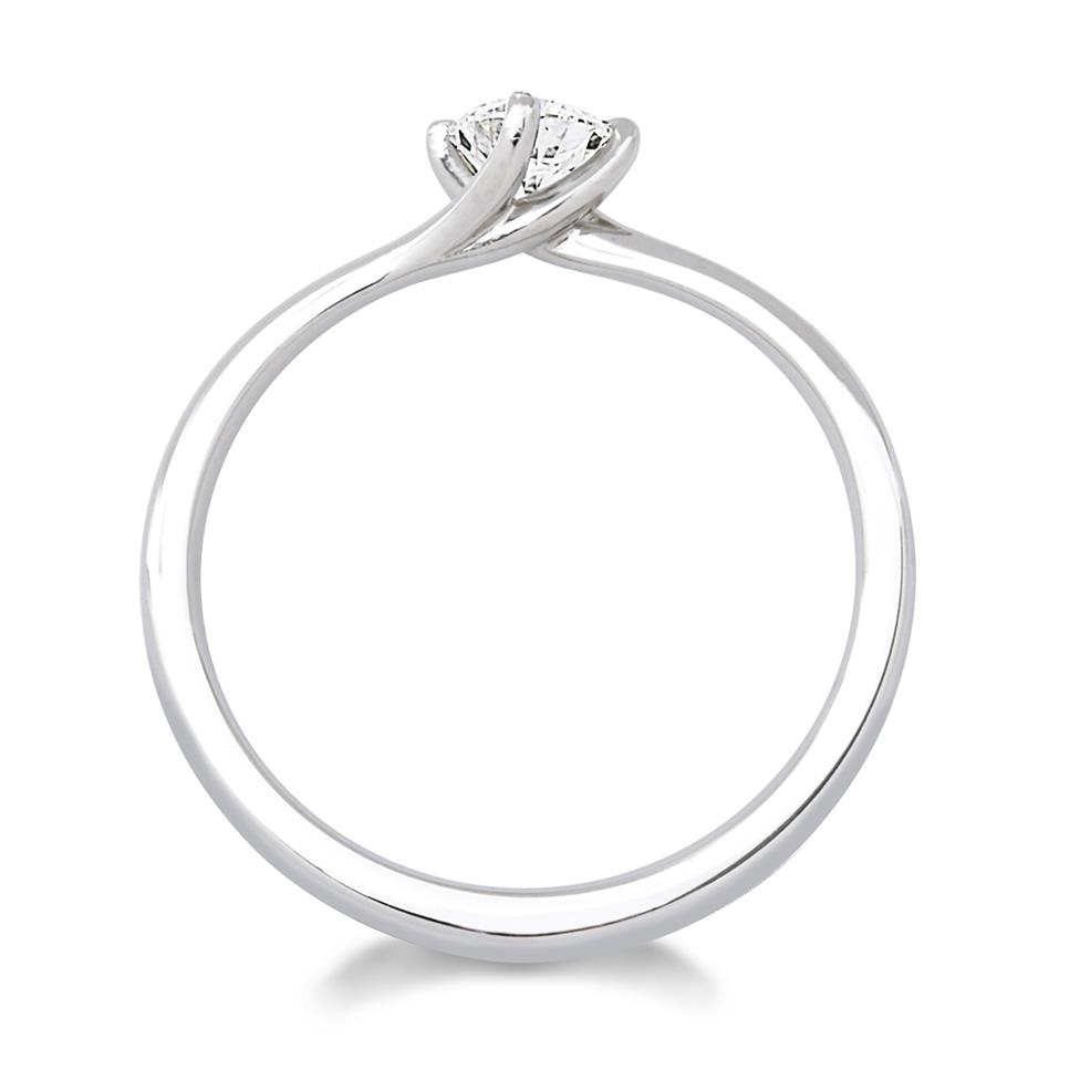 Platinum 0.35ct Diamond Twist Solitaire Ring Thumbnail Image 1