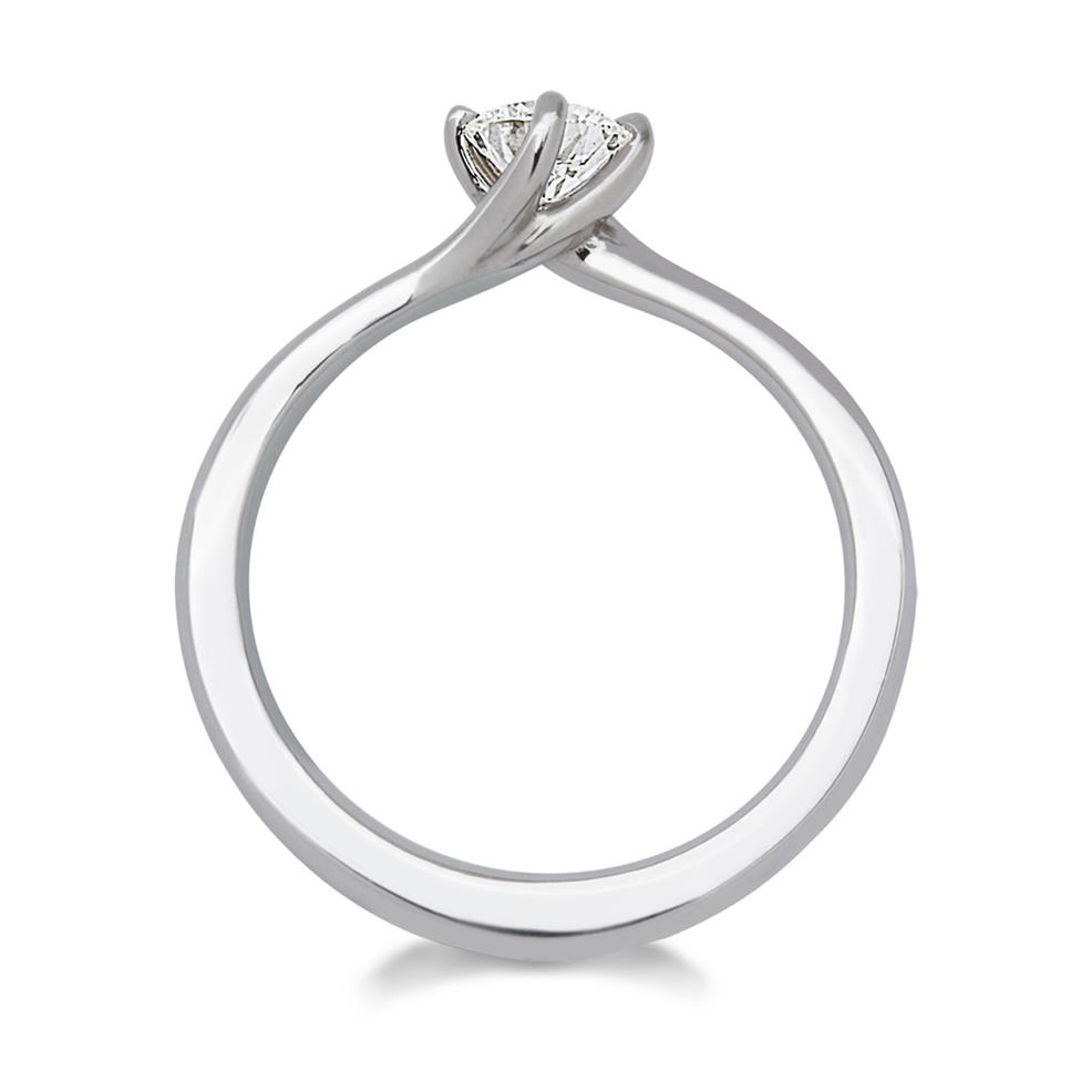 Platinum 0.40ct Diamond Twist Solitaire Ring Thumbnail Image 1