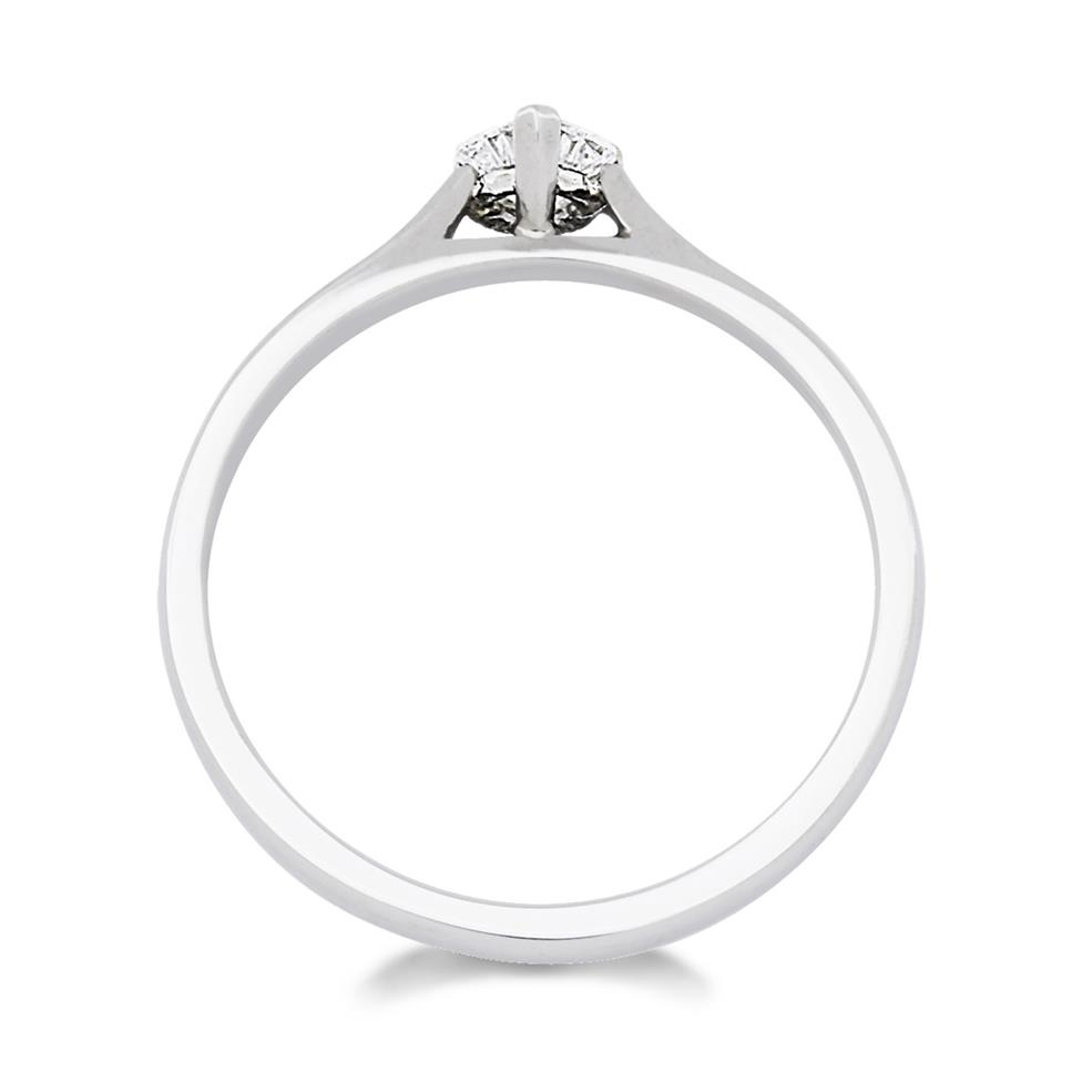 Platinum 0.25ct Diamond Heart Shape Solitaire Ring Thumbnail Image 1