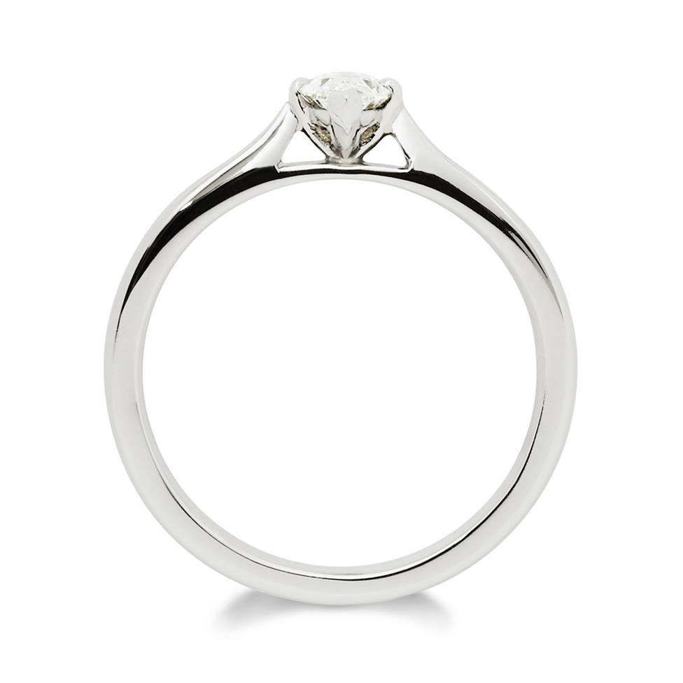 Platinum 0.50ct Diamond Marquise Cut Solitaire Ring Thumbnail Image 1