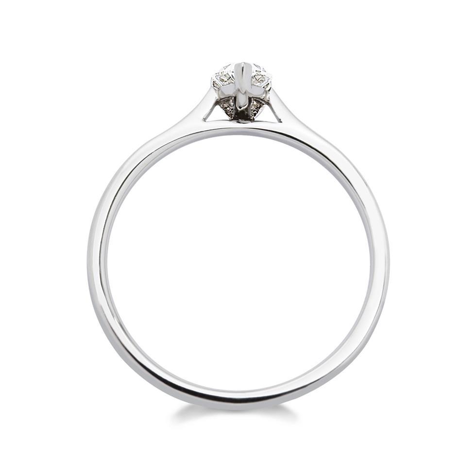 Platinum Pear Shape Diamond Solitaire Enagagement Ring 0.35ct Thumbnail Image 1