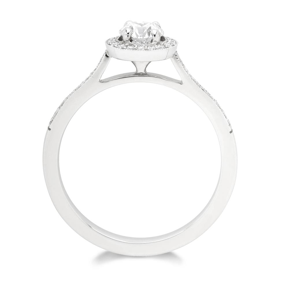 Platinum 0.58ct Vintage Inspired Diamond Halo Ring Thumbnail Image 1
