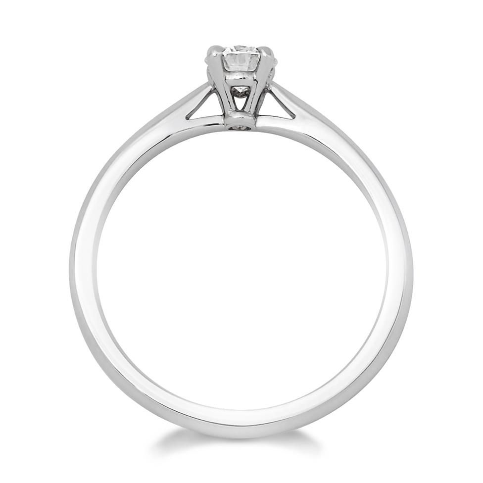 Platinum Tapered Shoulder 0.25ct Diamond Solitaire Ring Thumbnail Image 1