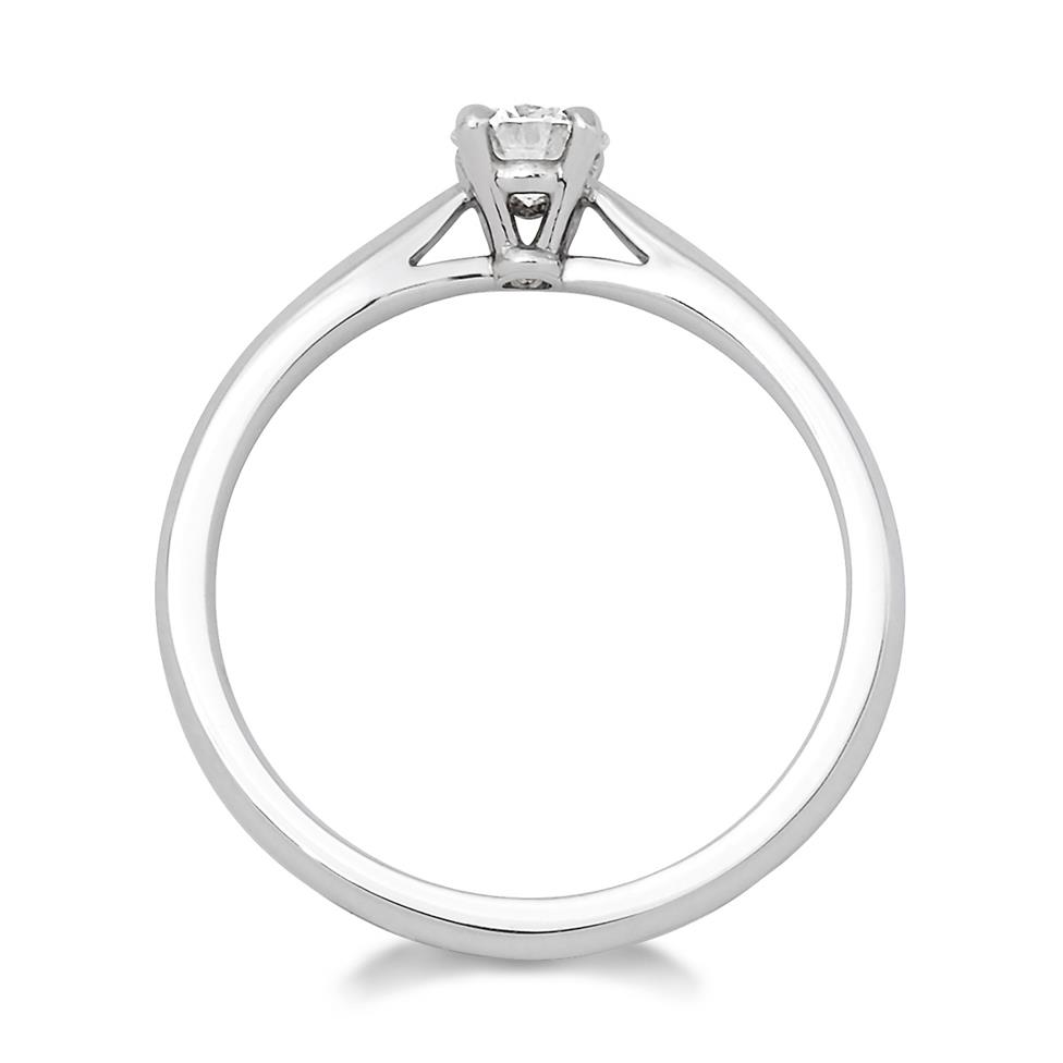 Platinum Tapered Shoulder 0.33ct Diamond Solitaire Ring Thumbnail Image 1