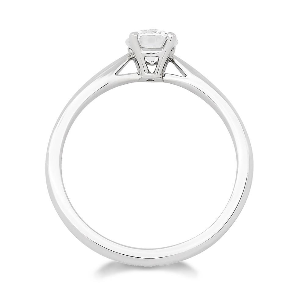 Platinum Classic Design Diamond Solitaire Engagement Ring 0.50ct Thumbnail Image 2