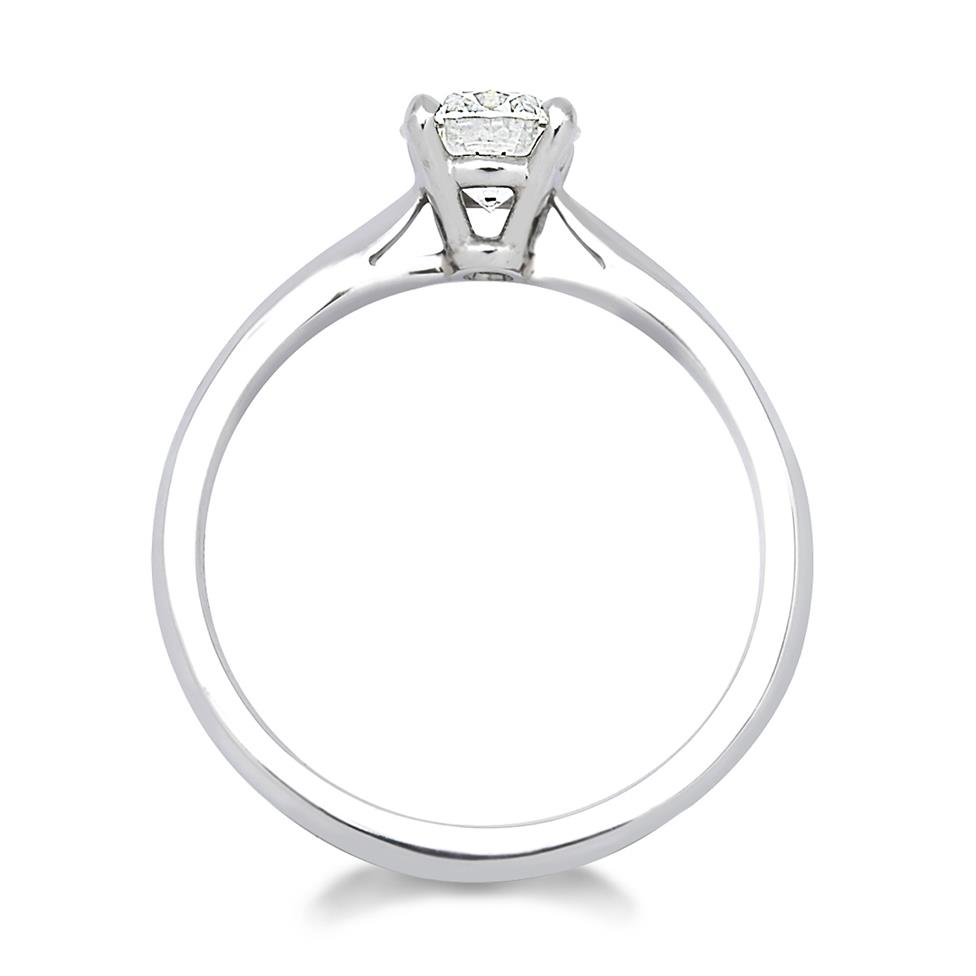 Platinum Tapered Shoulder 0.70ct Diamond Solitaire Ring Thumbnail Image 1