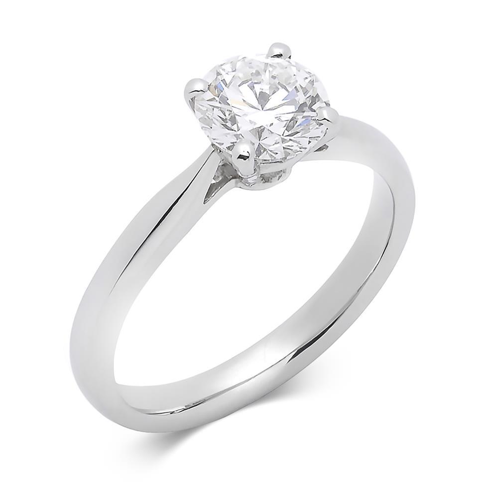 Platinum Classic Design Diamond Solitaire Engagement Ring 1.20ct Thumbnail Image 0