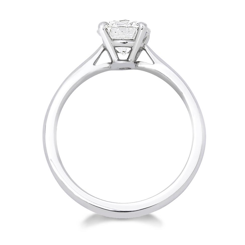 Platinum Classic Design Diamond Solitaire Engagement Ring 1.20ct Thumbnail Image 1