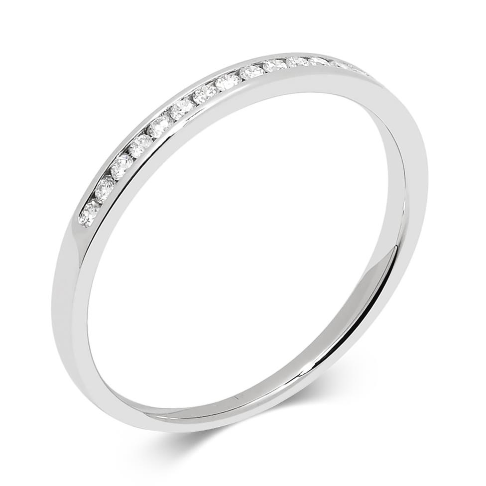 Platinum Diamond Channel Set Ring Thumbnail Image 0