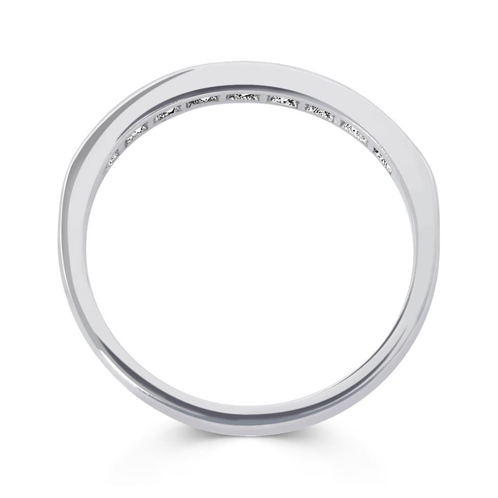 Platinum Princess Cut Diamond Half Eternity Ring 0.60ct Thumbnail Image 1