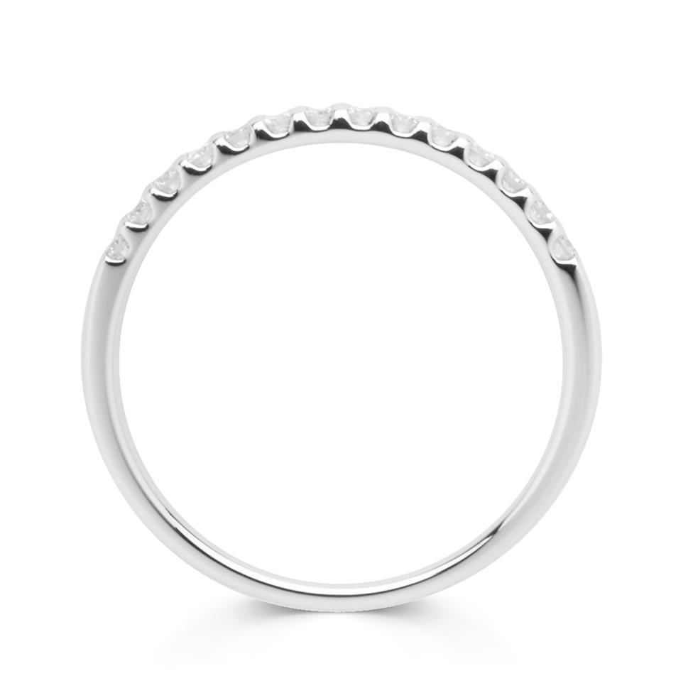 Platinum Diamond Claw Set Ring Thumbnail Image 1