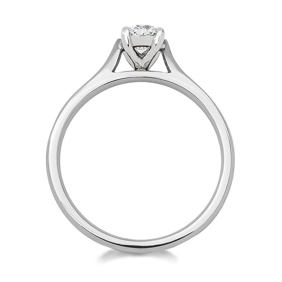Platinum Oval Cut Diamond Solitaire Engagement Ring 0.60ct Thumbnail Image 1