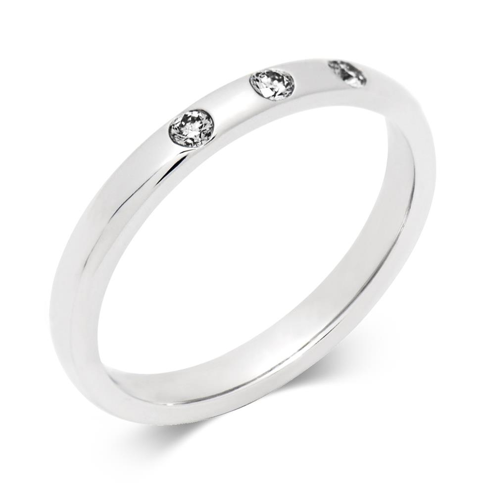 Platinum Diamond Set Wedding Ring Thumbnail Image 0