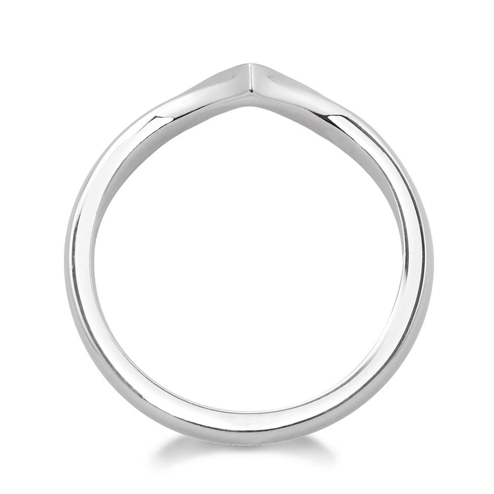 Platinum Wishbone Diamond Shaped Ring Thumbnail Image 1