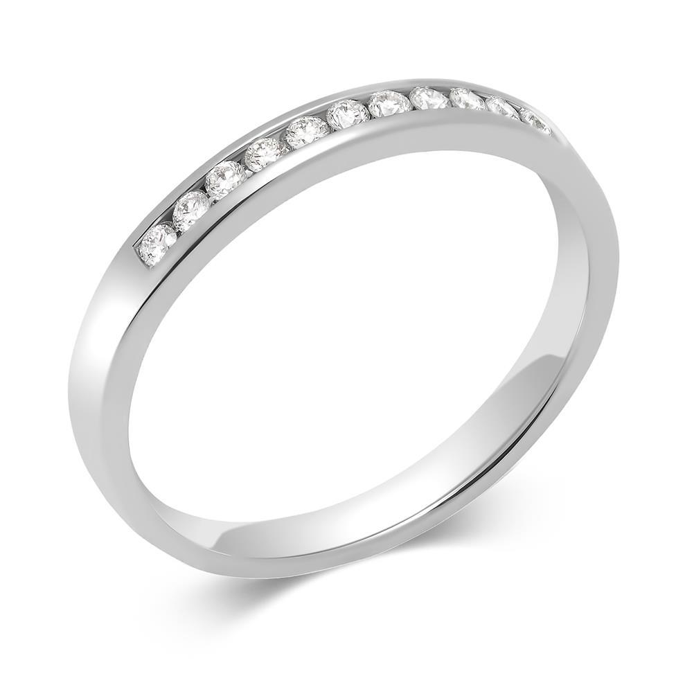 Platinum Diamond Half Eternity Ring 0.10ct Thumbnail Image 0
