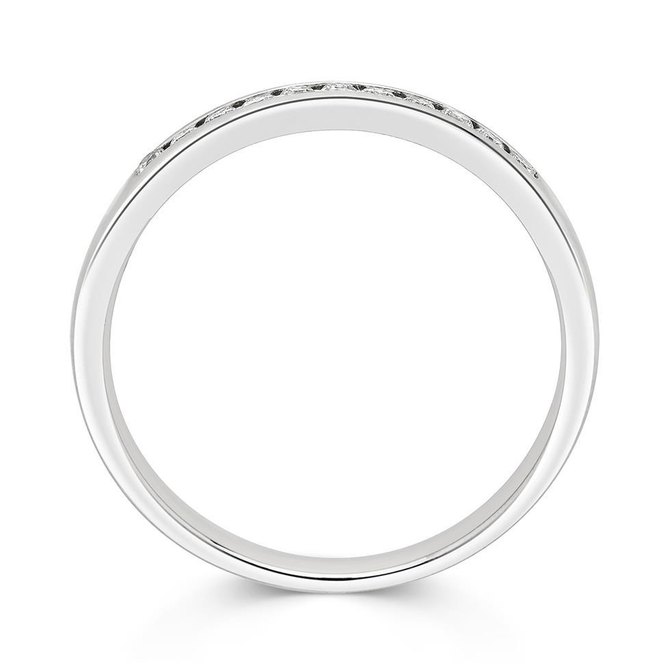 Platinum Diamond Half Eternity Ring 0.10ct Thumbnail Image 2
