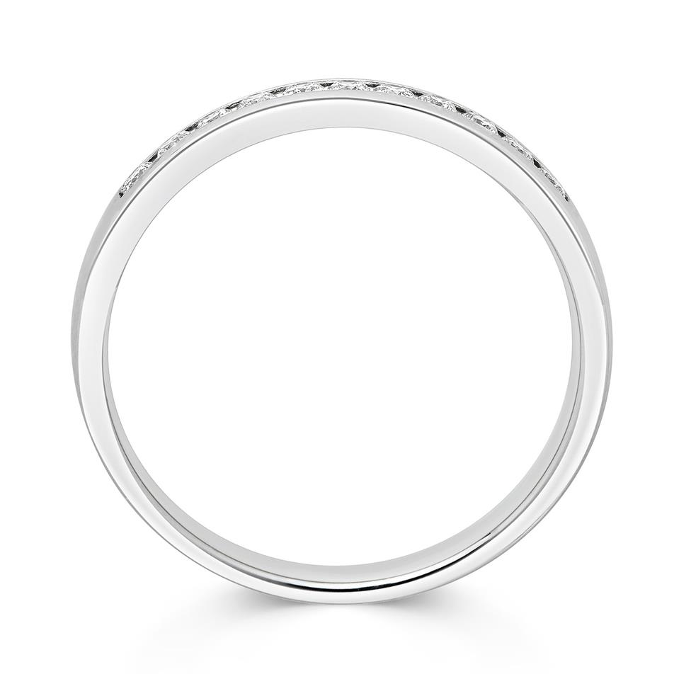 Platinum Round 0.15ct Diamond Fine Channel Ring Thumbnail Image 1