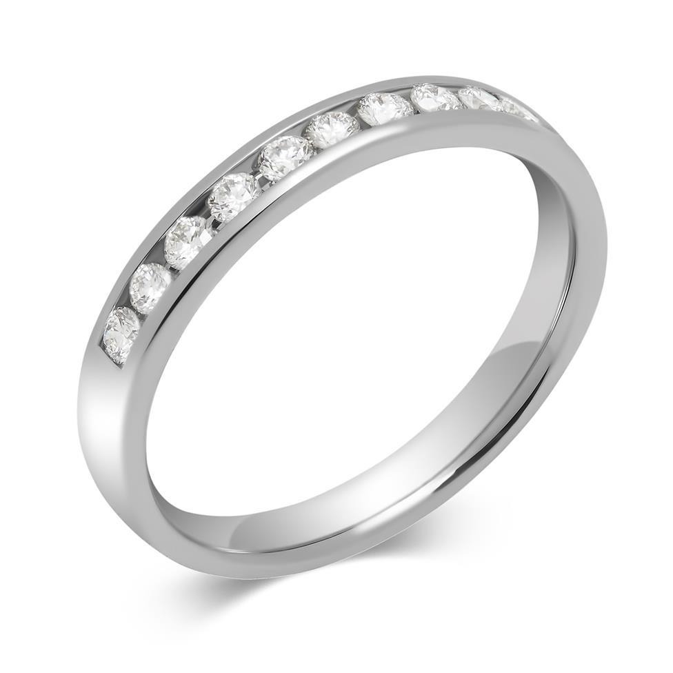 Platinum Diamond Half Eternity Ring 0.25ct Thumbnail Image 0