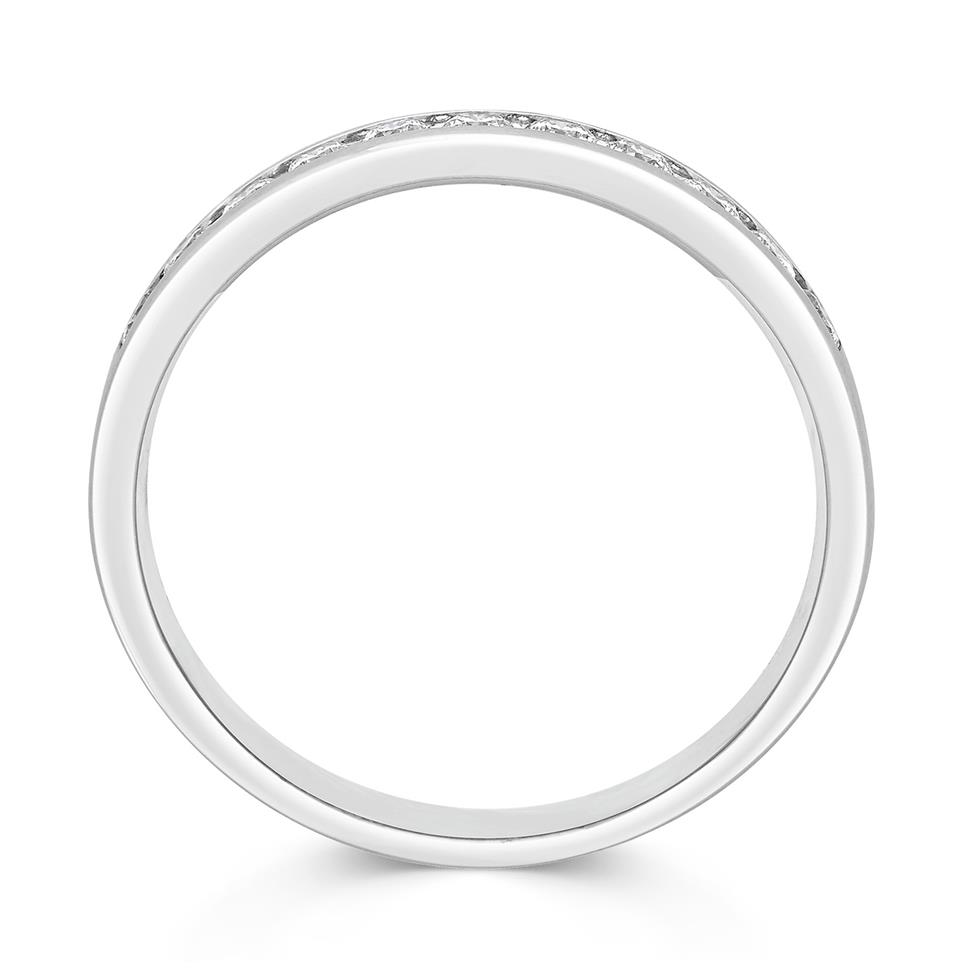 Platinum Round 0.33ct Diamond Fine Channel Ring Thumbnail Image 1