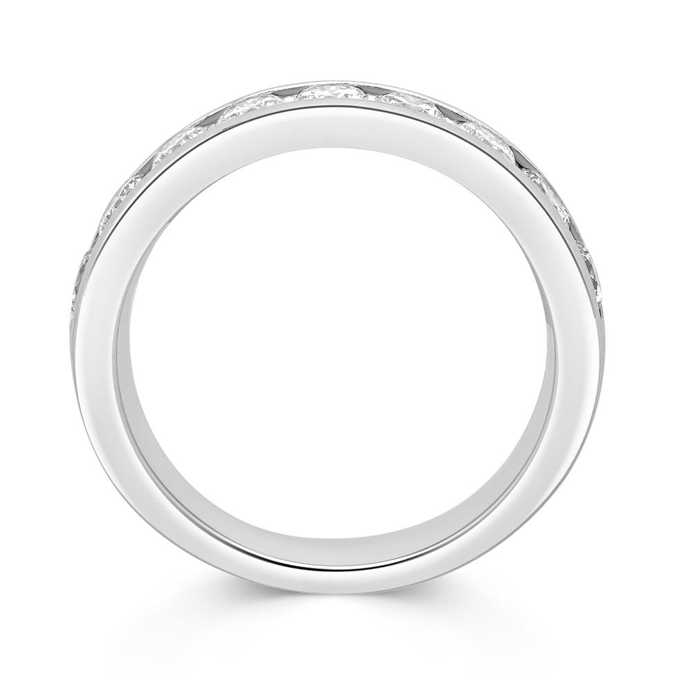 Platinum Round 1.00ct Diamond Fine Channel Ring Thumbnail Image 1