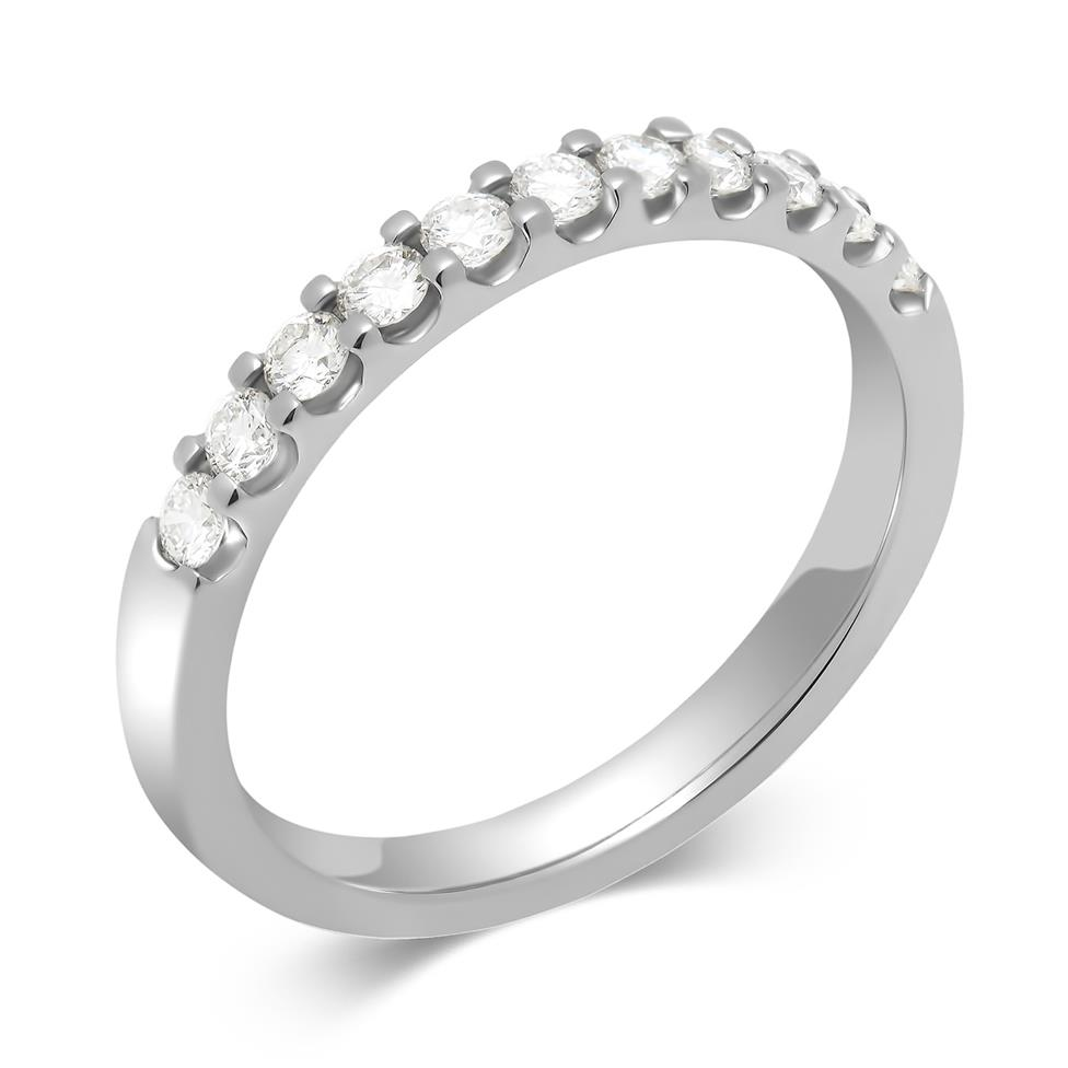 Platinum Round 0.33ct Diamond Claw Ring Image 1
